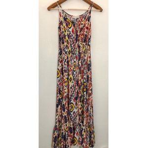 Lovestitch Multi ikat maxi dress s